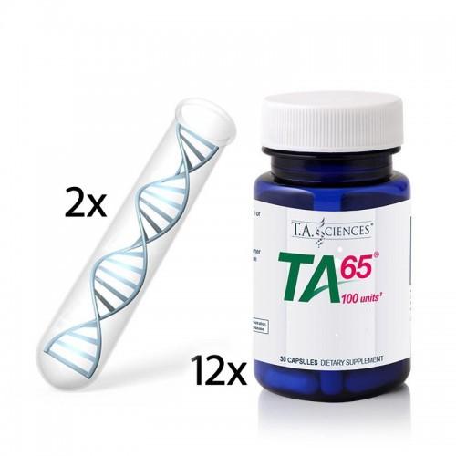 Life Length T.A.T. Testi(x2)  + 1 Yıl (x12) Avantajlı TA-65 MD, 100 Ünite, 30 Kapsül - Besin Destekleri - Genetik Testler