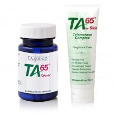 TA-65 MD, 100 Ünite, 30 Kapsül + TA-65 For Skin, 118 gr., Tube