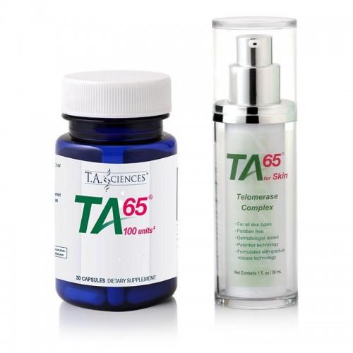 TA-65 MD, 100 Ünite, 30 Kapsül + TA-65 For Skin, 30 gr., Airless Tube - Besin Destekleri