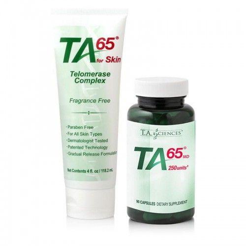 TA-65 MD, 250 Ünite, 90 Kapsül + TA65 for Skin 118 ml., Kombine Paket - Besin Destekleri